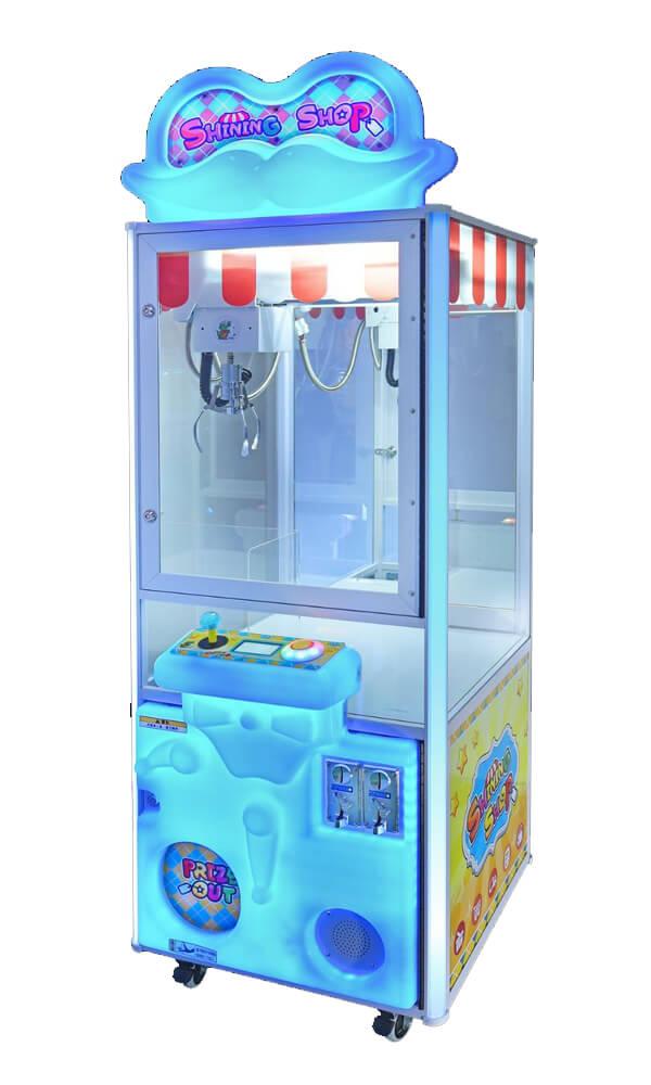 maquina expendedora shining shop azul