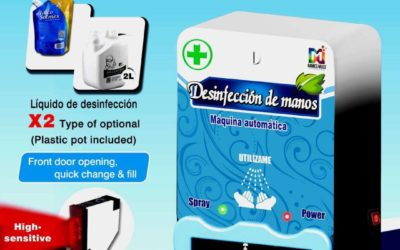Nueva máquina dispensadora desinfectante de manos